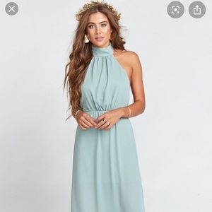 Show me your Mumu collette collar dress silver sag